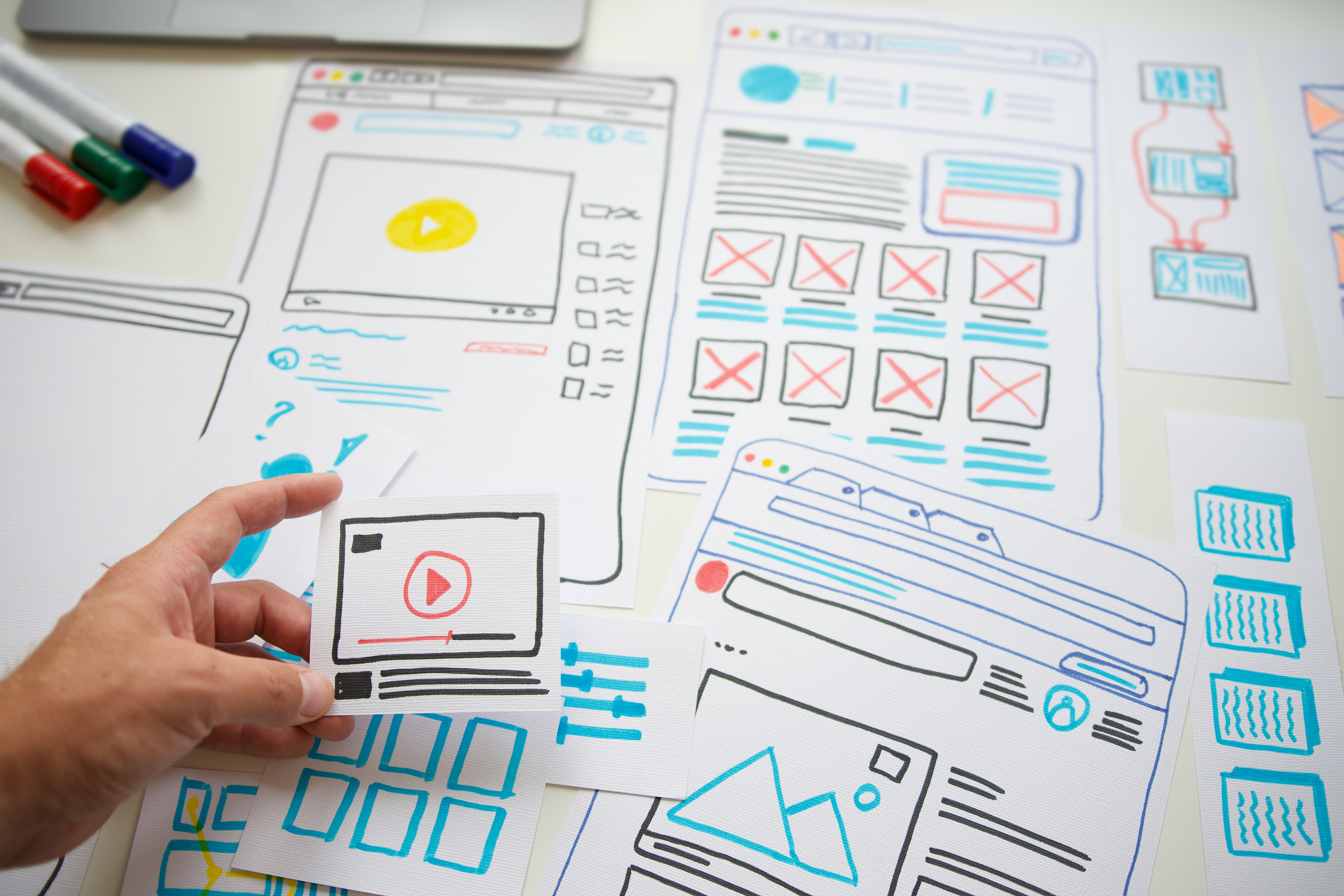 website-wireframes-on-a-piece-of-paper