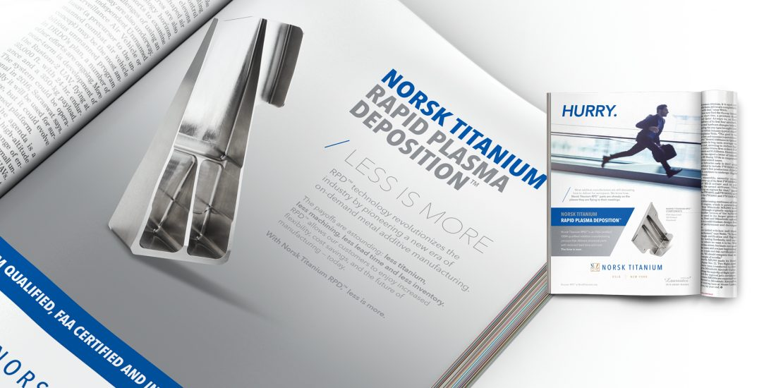 top branding agency Norsk Titanium ad