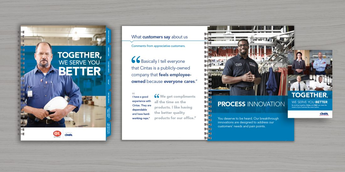 corporate branding Cintas G&K merger materials