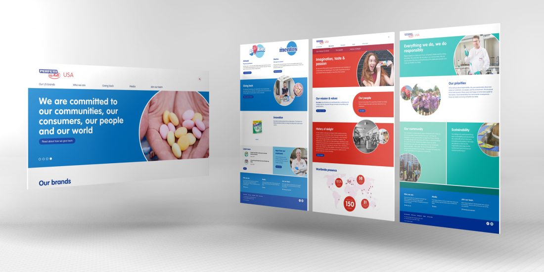 design and branding Perfetti US website