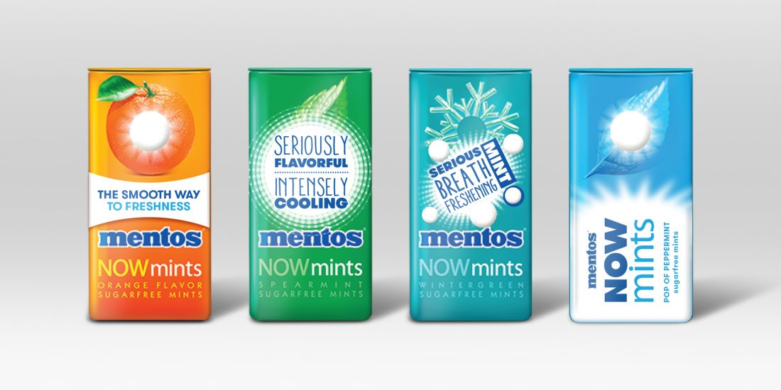best branding agency Mentos NOWmints