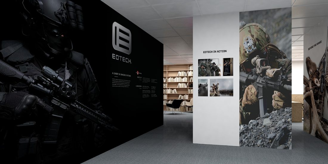 cincinnati branding agency EOTECH display
